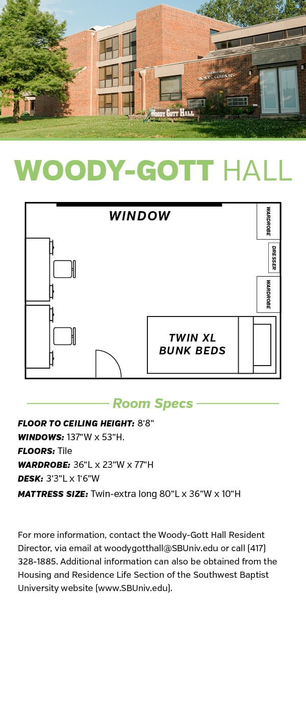 Woody Hall Floor Plan