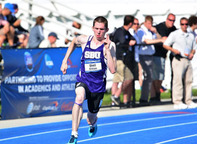 Bill Shell running track for SBU