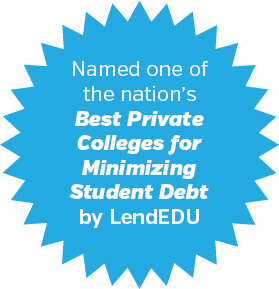 SBU is one of the nation's best private colleges at minimizing student debt!