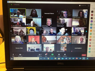 SBU's 50-Year Club met via Zoom.
