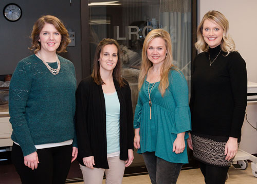 SBU's nursing program on the Bolivar campus is led by Blair Stockton, Julie Wilken, Nancy Delmont and Heather Daulton.