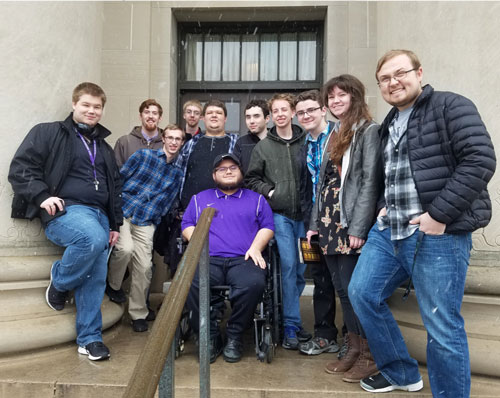 SBU's CIS team at Central Plains Region contest.