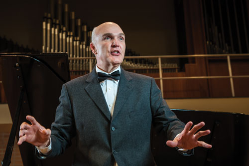 Dr. Eric McCluskey will be the first guest artist to perform in SBU's new concert series.