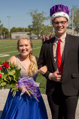 Hannah King (left) and Caleb Rutledge were named SBU Homecoming Queen and King for 2018.