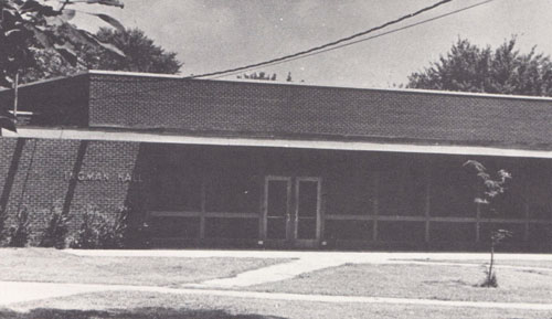 old black and white photo from yearbook of Ingman Hall