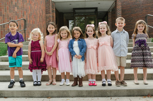 Children participate in Homecoming festivities.