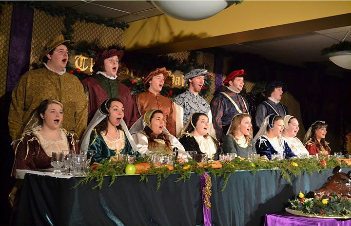 SBU Chamber Singers perform at Ye Olde Madrigal Dinners
