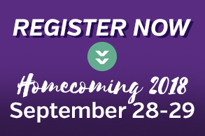 Save the Date for Homecoming 2018 on September 28-29.
