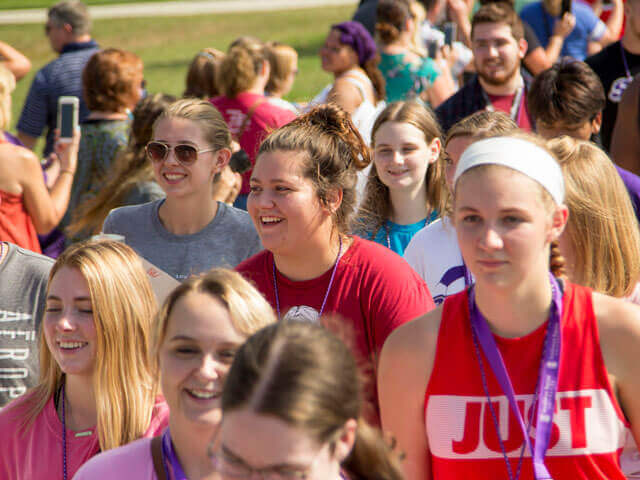 SBU students in Welcome Week processional